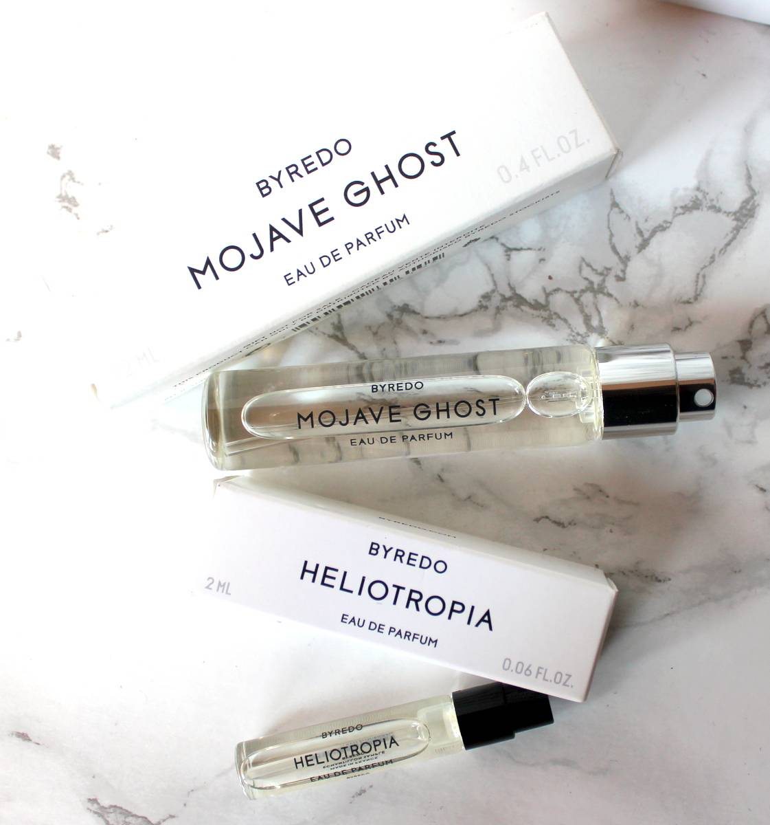 Byredo Mojave Ghost and Heliotropia