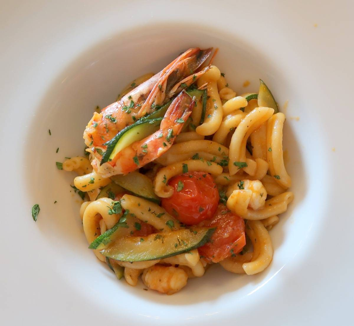 The Lavender - Gemelli Prawns and Zuchinni