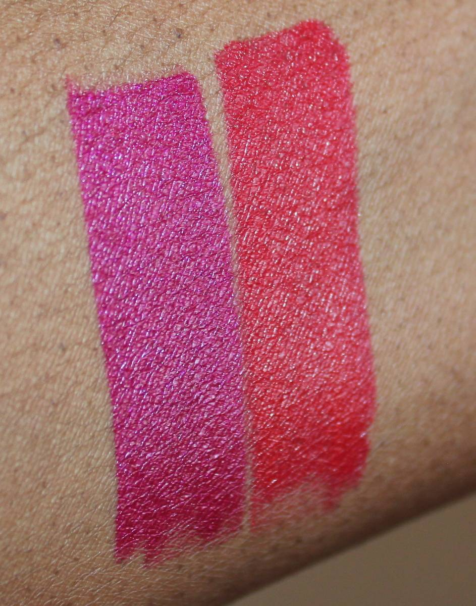 Besame Wild Orchid and Besame Red Lipstick Swatches
