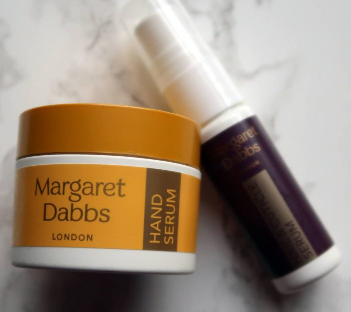 Margaret Dabbs hand serum and cuticle cream